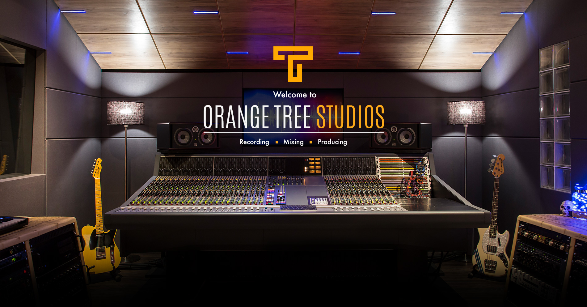 Welcome to Orange Tree Studios. Recording. Mixing. Producing
